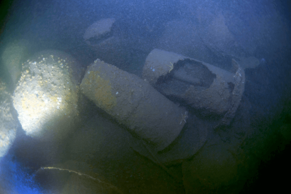 naval sea mines and depth charges