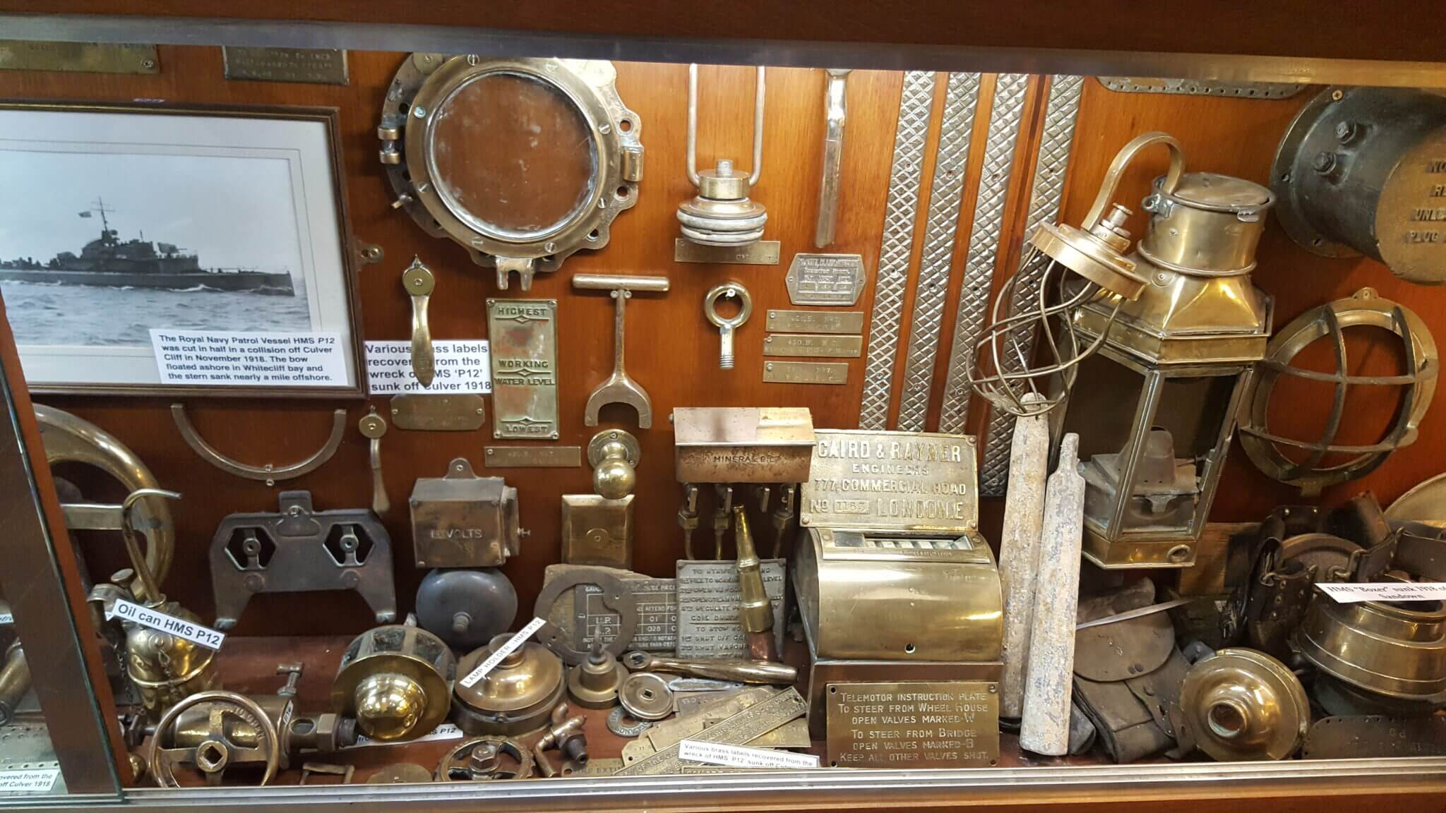 maritime museum ww1 shipwreck artefacts
